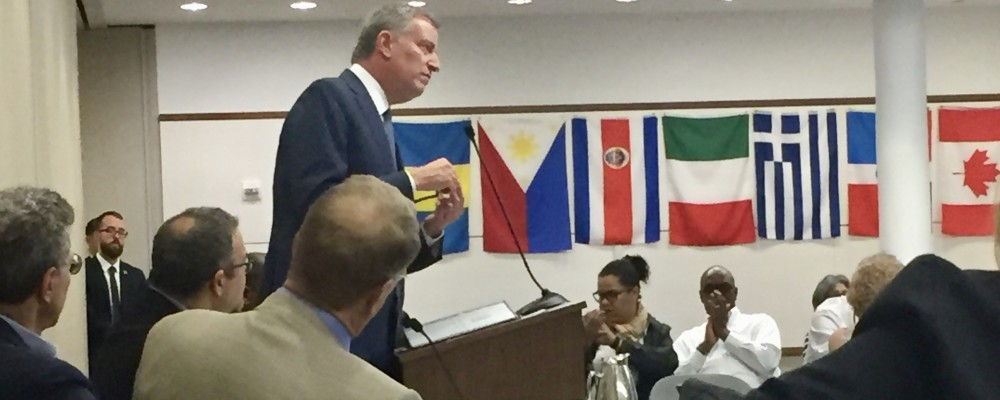 Translator for Bill De Blasio
